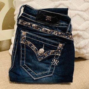Miss Me Dark Skinny Jeans.